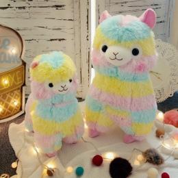 RAINBOW Alpaki Pluszowa Zabawka 3 Rozmiar Lalki Dla Dzieci Wysokiej Jakości Miękkiej Bawełny Dziecka Brinquedos Zwierząt Na Prez