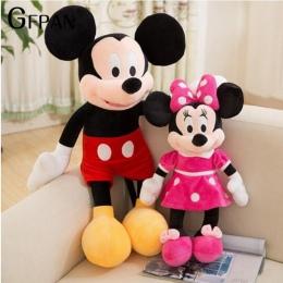 2018 Gorąca Sprzedaż 40-100 cm Wysokiej Jakości Nadziewane Mickey & Minnie Mouse Pluszowe Zabawki Lalki Ślubne Prezenty Urodzino