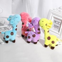 1 SZTUK 18 cm Cute Baby Zabawki Tęczy Żyrafa Pluszowe Zabawki Lalki Dla Dzieci prezent dla znajomych 6 Kolory dostępne