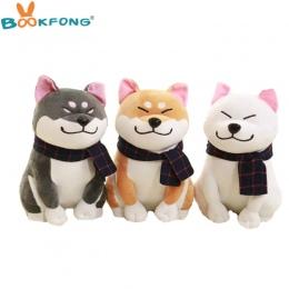 BOOKFONG 1 PC Nosić szalik Shiba Inu pies pluszowe zabawki miękkie nadziewane zabawka pies dobrej walentynki prezenty dla dziewc