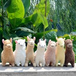 Urocza 23 cm Biały Lamy Alpaki Pluszowe Zabawki Lalki Zwierząt Wypchanych Zwierząt Lalki Japońskie Miękkie Alpacasso Pluszowe Dl