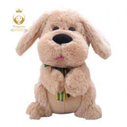 1 sztuk 28 cm Elektryczne Peek Boo Pies Pluszowe Pluszaki Singing Baby Zabawki Muzyczne Uszy Flaping Przenieść Interaktywne lalk