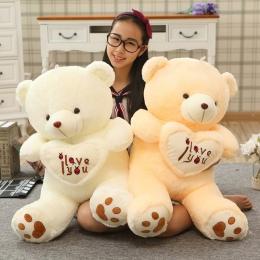 1 pc Big Kocham Cię Misiu Duży Nadziewane Pluszowa Zabawka trzymając MIŁOŚĆ Serce Miękkie Prezent na Walentynki Urodziny Brinque