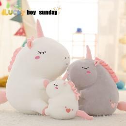 Jednorożec pluszowe zabawki tłuszczu unicorn lalka słodkie zwierząt nadziewane unicornio miękkie poduszki dziecko dzieci zabawki