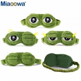 Śmieszne Kreatywne Smutne Pepe Żaba Żaba 3D Eye Mask Pokrywa Kreskówka Pluszowe Spania Maska Śliczne Anime Prezent