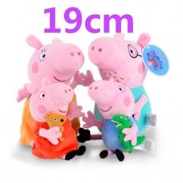 Oryginalne 19 cm peppa pig Cute cartoon peppa George mama tata Miękkie Pluszowe wypchane Lalki zabawki dla dzieci prezenty