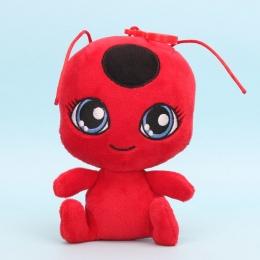 15 cm Cudowny Biedronka i Kot Plagg i Tikki Noir pluszowe Zabawki wisiorek klip brelok Lady Bug Adrien Marinette Pluszowe lalki