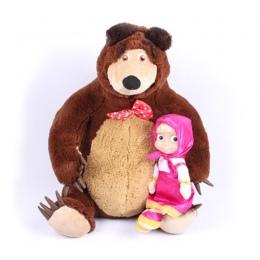 Rosyjski Musical Masza Lalki & Bear Pluszowe Zabawki i Marka Edukacyjne Dla Chłopców Dziewczyny Urodziny Boże Narodzenie Nowy Ro