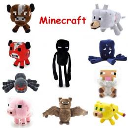 Minecraft Pluszowe Zabawki Enderman Ocelot Świnia Owiec Bat Mooshroom Kalmary Pająk Wilk Creeper Steve Szkielet Ghast Anime Plus