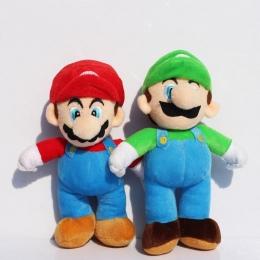 10''25cm Super Mario Bros Luigi Plush Zabawki Super Mario Stojak Mario Brat Wypchane Zabawki Miękkie Lalki Dla Dzieci Wysokiej J