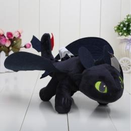 23 cm JAK WYTRESOWAĆ SMOKA Toothless Noc Fury PLUSZOWE pluszowe Zabawki dla dzieci lalka
