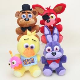 25 cm Pięć Noce W Freddy's FNAF Plush Doll Freddy Niedźwiedź Foxy Chica Bonnie wypchane Zabawki Pluszowe Kid Dzieci lalki Dla Dz