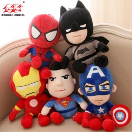 Gorący Śliczne 30 cm Q stylu Spider-man Kapitan Ameryka Wypchane zabawki Super hero Avengers Batman miękkie pluszowe pluszowe pr