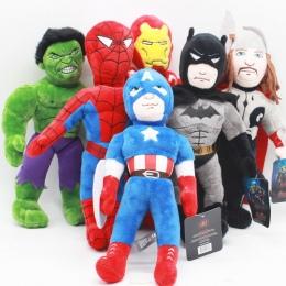 30 cm Marvel Avengers Iron Man Hulk Spiderman Kapitan Ameryka Batman Thor Wypchane Zabawki Pluszowe Lalki Miękkie Zabawki dla Dz
