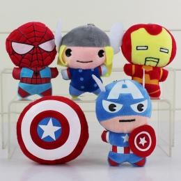 5 style Superbohaterowie Avengers Pluszowe Zabawki Batman Captain America Thor Iron Man Spiderman Tarcza Pluszowa Zawieszka Zaba