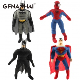 1 pc 25 cm klasyczna Spiderman Batman Superman i avengers alliance pluszowe zabawki wypchane miękkie lalki kreskówek dla dzieci