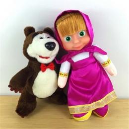 Anime Masza i Niedźwiedź Rosyjski Briquedos Wypchane Zabawki Pluszowe Lalki Popularne Prezenty Urodzinowe Brinquedos Nowy Dzieci