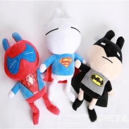 Fajne Chłopaki Spiderman Superman Batman Pluszowe Lalki Pluszowe Zabawki 20 cm Anime Film Animowany Nadziewane Zabawka Dla Dziec