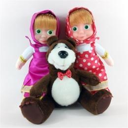 3 sztuk Anime Prezenty Masza i Niedźwiedź Zabawki Pluszowe Lalki Niedźwiedź rosyjski Briquedos Kawaii Urodziny Miękkie Zabawki D