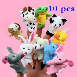 10 Sztuk Biologiczna Zwierząt Finger Lalek Lalki Pluszowe Zabawki Dziecka Dziecko Przysługę Powiedz Story Rekwizyty Kreskówka Zw