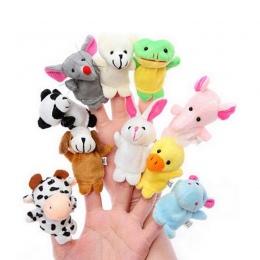 Dziecko Aksamitna Finger Puppets Pluszowe Zabawki Różne Cartoon Zwierząt Dla Dzieci Bawią Miękkie Lalki Dla Dzieci Edukacyjne Pa
