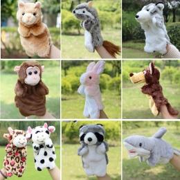 Marioneta Pacynka zwierząt Słoń Panda Kot Ręka Lalki Nauka Lalek Lalki Pluszowe Zabawki Dla Niemowląt Marionetes Fantoche Puppet