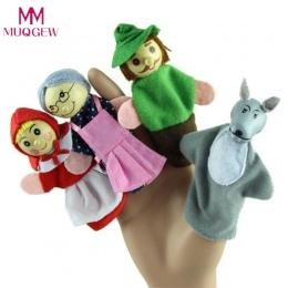 Nowy 4 Sztuk/zestaw Czerwony Kapturek Świąt Zwierząt Palec Pacynki Lalek zabawki Zabawki Edukacyjne Storytelling Lalka Drop Ship