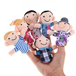 6 sztuk/partia Palec Rodzina Puppets Zestaw Mini Pluszowa Zabawka Dla Dziecka Chłopcy Dziewczyny Finger Puppets Edukacyjne Story