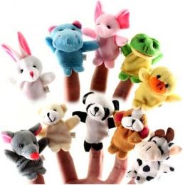 10 sztuk/partia Zwierząt Cartoon Biologiczna Finger Lalek Pluszowe Zabawki Dziecko Tkaniny Ręcznie Edukacyjne Toy Story Lalki Pa