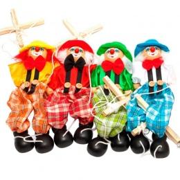 2018 Nowy Funny Toy Pull String Marionette Clown Lalek Drewniane Zabawki Wspólne Aktywności Lalki Rocznika prezenty