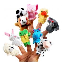 10 SZTUK Cute Cartoon Biologiczna Zwierząt Finger Lalek Pluszowe Zabawki Dziecka Favor Lalki Dla Dzieci Chłopcy Dziewczęta Finge