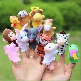 3 Sets Rodzina Finger Puppets Wypchane Pluszowe Lalki Tkaniny Ręcznie Edukacyjne Dla Dzieci Zwierząt Cute Zabawki