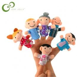 6 sztuk Rodzina Finger Puppets Cloth Doll Ręcznie Edukacyjne Dla Dzieci Toy Story Kid