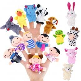 RCtown 16 sztuk Kreskówka Pluszowe Finger Puppets Zestaw Palca Zwierząt Lalek Zabawki Pluszowe Kid Dziecko Favor Lalki Powiedz S