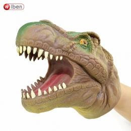 Wiben Miękkie Winylu PCV Sylwetka Zabawki Dinozaur Pacynka Zwierząt Szef Pacynka Rękawice Dzieci Zabawki Modelu Prezent