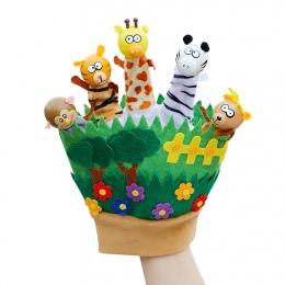 Dzieci Cartoon Zwierząt Ręczne Puppets Finger Rękawice Lalki Zabawki Lalki dla Dzieci Baby Animals Bedtime Historie fantoche
