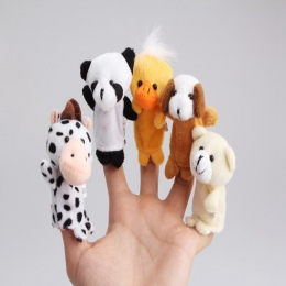Śliczne 10 Sztuk Nadziewane Plush Animal Finger Biologicznej Graj Dowiedz Się Opowiadanie historii Opowieść Zabawki Lalki Prezen