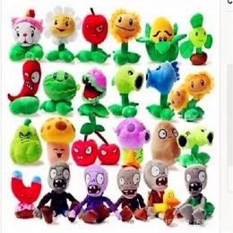 1 sztuk 27 Style Funny Rośliny vs Zombies Pluszowe Zabawki 13-20 cm Plants vs Zombies Miękkie Nadziewane Plush zabawki Lalki Dla
