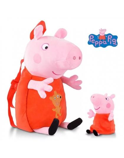91a1491f9a250 Nowo Przybyły Prawdziwe Peppa Pig 44 cm torba + 1 pc doll Kid śliczne Torby  Plecak