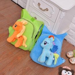 Śliczne Miękkie Cartoon Pony Pluszowe Zabawki Przedszkola Przedszkola Dzieci Pluszowy Plecak Torba Dla Dzieci Prezent dla Dzieci
