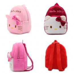1-3 lat Dziecko Pluszowy Plecak Cute Cartoon Różowa Róża Wino Czerwone Hello Kitty Cat Pluszowe Torby Soft Toy torba dla dzieci