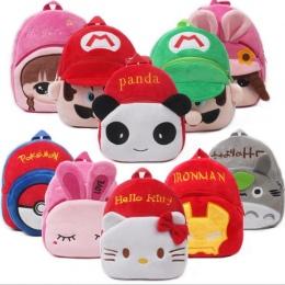 23*21 cm Wysokiej Jakości Hello Kitty/Minnie/Superman/Spider-man/Mario dzieciak Pluszowe plecaki Cartoon Zabawki Dziewcząt i Chł