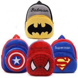 Nowy superman Spider man batman Chłopiec tornistrów avengers cartoon pluszowe plecaki dla dzieci tornistry mochila (bezpłatna wy