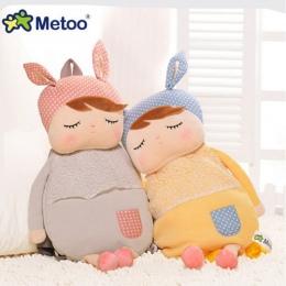 Metoo Pluszowe Plecaki Dzieci Dziecko Torby Zwierzęta Cartoon Doll Toy Dzieci Torba Na Ramię do Przedszkola Angela Królik Dziewc