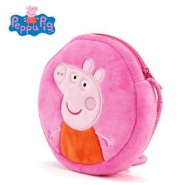 Oryginalne Świnka Peppa 16 cm Pluszowe Plecaki dzieci monety kiesy peppa Goerge okrągły torba pluszowe zabawki dla dzieci śliczn