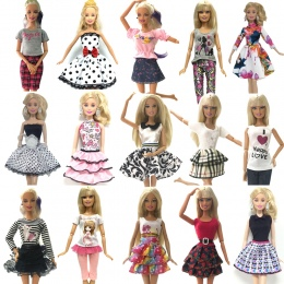 NK 2018 Najnowszy Lalka Strój Piękne Handmade Party ClothesTop Moda Sukienka Dla Barbie Noble Doll Najlepszy Dziecko Girls'Gift