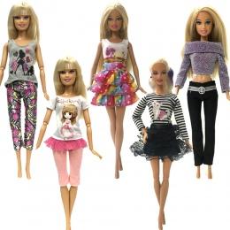 NK 5 sztuk Handmade moda ubrania Dla Lalka Barbie sukienka baby girl urodziny nowy rok prezent dla dzieci