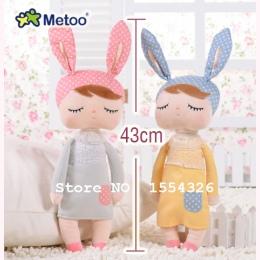 43 CM Cute Bunny Metoo Angela Lalki Baby Toy Wypchanych Zwierząt Pluszowa Zabawka Dla Dzieci Boże Narodzenie prezent urodzinowy