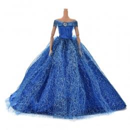 7 Kolory Elegancki Lato Odzież księżniczka Suknia ślubna Suknia Dla lalka Barbie Handmake Beaty Lalki Party Dress