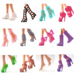 Lalka Buty NK 12 pairs Moda Śliczne Kolorowe Różne buty dla lalek Barbie Lalka z Różnych stylów Wysokiej Jakości Zabawki Dla Dzi
